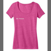 Body Coach Fitness Ladies Scoop Neck Tee - District Made™ - Ladies Textured Scoop Tee. DM471