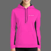 Body Coach Fitness Ladies Sports Wick Hoody - Ladies Sport Wick ® Fleece Colorblock Hooded Pullover
